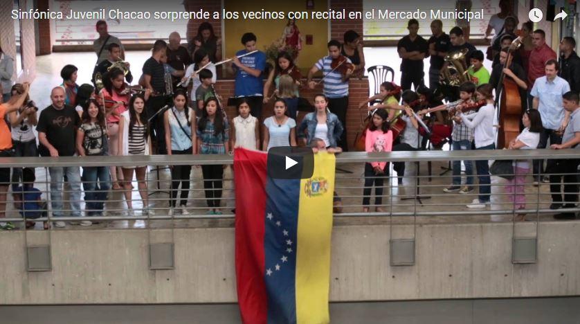 Recuerdos: La Orquesta Sinfónica Juvenil de Chacao sorprendió a los asistentes del Mercado Municipal