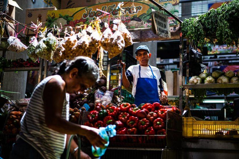 Vendedor Mercado de Chacao