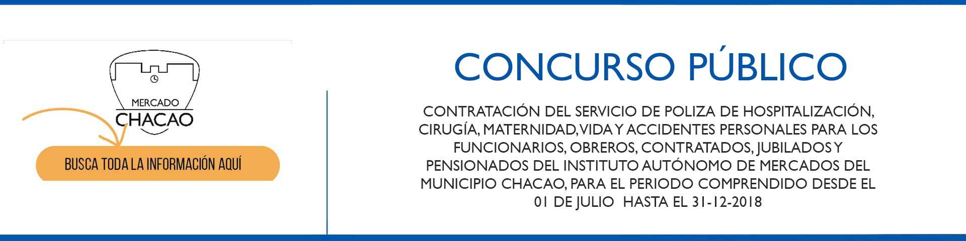 CONCURSO ABIERTO N°IAMMCH-CCP-CA-2018-005
