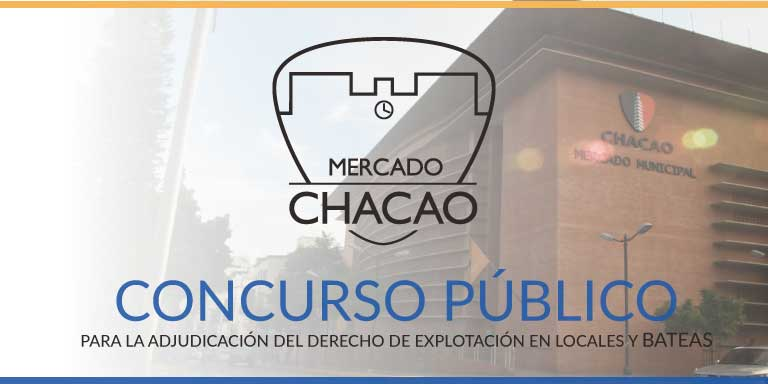 CONCURSO PÚBLICO – Del 3 al 5 de oct 2018